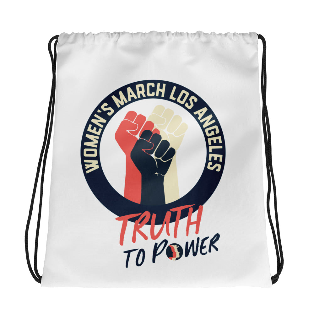 Truth to Power Drawstring bag
