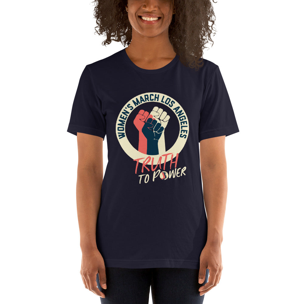 Women's March LA Truth to Power unisex crew neck t-shirt