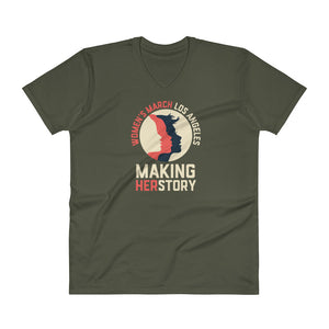 Making HerStory V-Neck T-Shirt