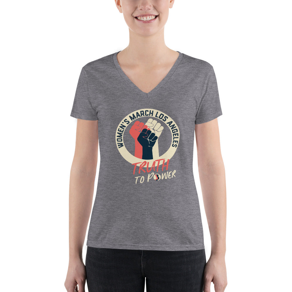 Truth to Power Women's Fashion Deep V-neck Tee