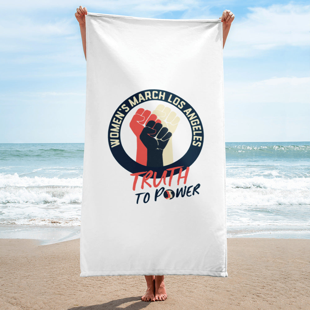 Truth to Power Beach Towel