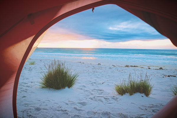 Camping on sand