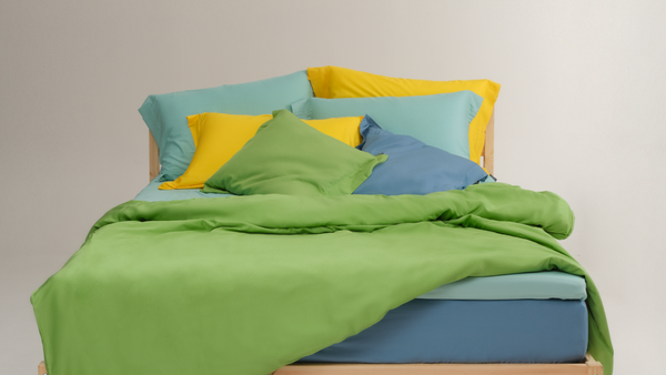 bedding color yellow green blue