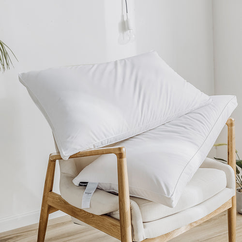 CS2 Anti-bacterial White Goose Down Feather Pillow