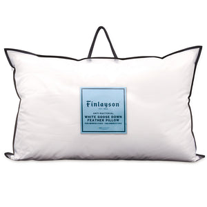 Anti-bacterial White Goose Down Feather Pillow