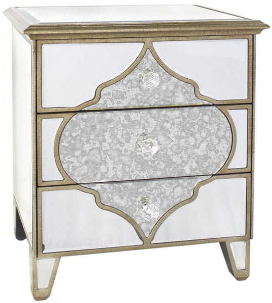 Selma Small Mirrored 3 Drawer Chest