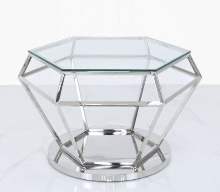Value Hexagon Stainless Steel Coffee Table