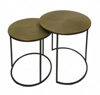 Black And Gold Nesting Tables Set Of 2