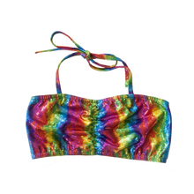 Load image into Gallery viewer, Tropical Rainbow Swim Top