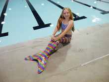 Load image into Gallery viewer, Tropical Rainbow Mermaid Tail Package