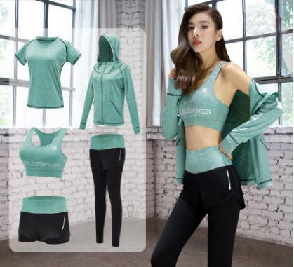 808d10a003 New Yoga Suits Women Gym Clothes Fitness Running Tracksuit Sports Bra+Sport  Leggings+Yoga