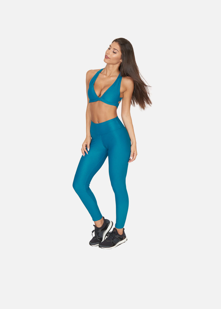 Texturise Tights Aqua Green - Brava Body