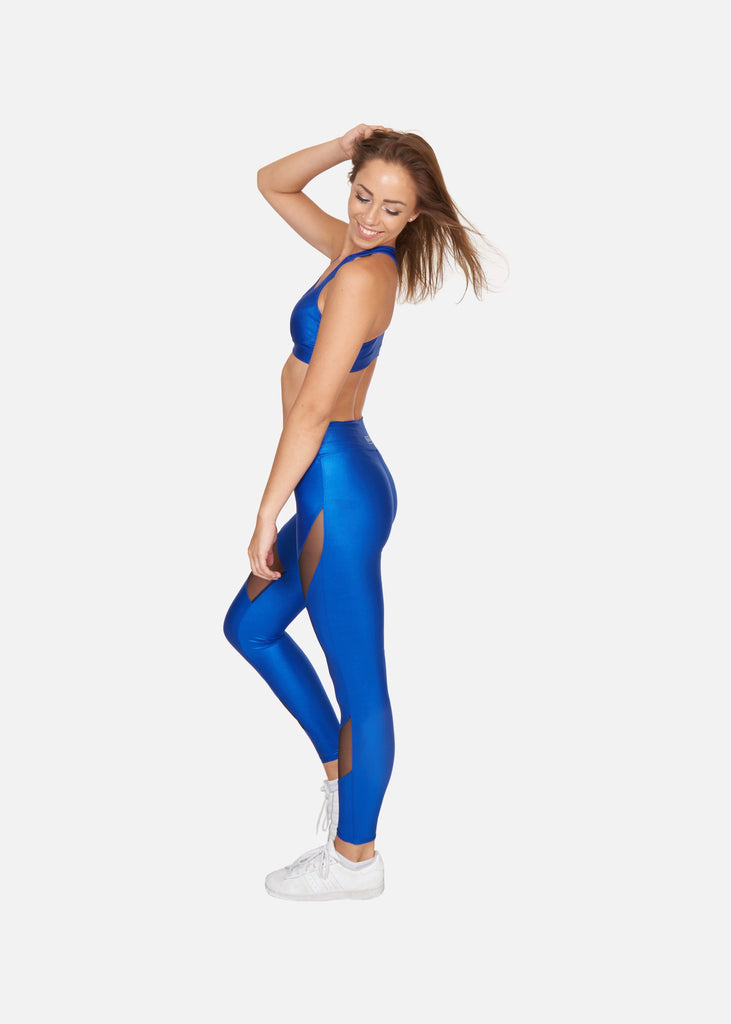 Mesmerise Tights Electric Blue - Brava Body