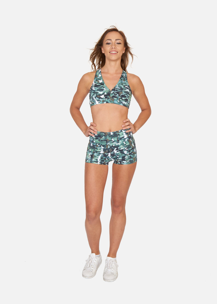 Digital Camo Booty Shorts - Brava Body