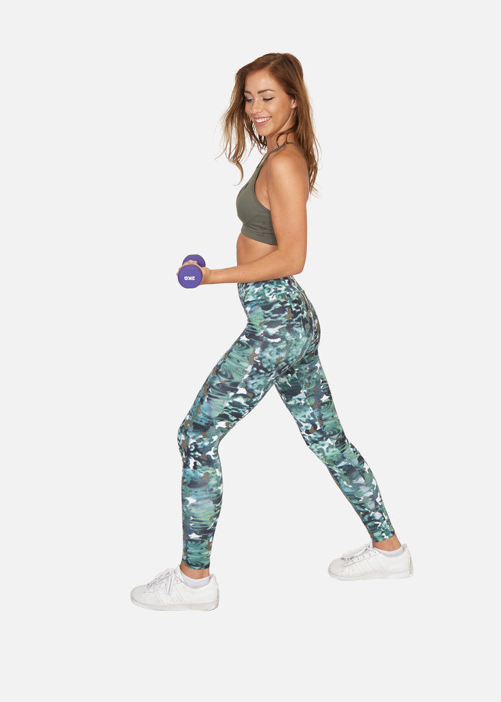 Digital Camo Tights - Brava Body