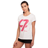 djbravo47 47 Tee Female White with Pink