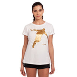 djbravo47 Celebration Tee Female White with Gold