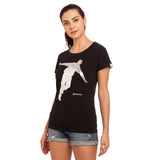 djbravo47 Celebration Tee Female Black with Silver