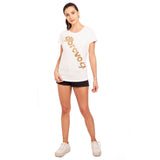 djbravo47 Logo Tee Female White with Gold