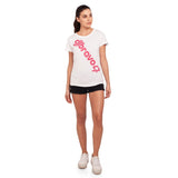 djbravo47 Logo Tee Female White with Pink