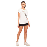 djbravo47 Logo Tee Female White with Silver