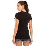 djbravo47 logo tee female Black with Red