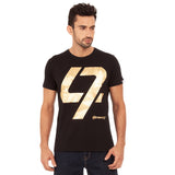 A Black t-shirt with the Gold 47 logo