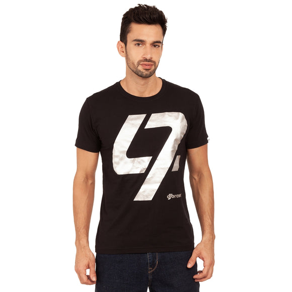 A Black t-shirt with the Silver 47 logo