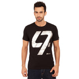 djbravo47 47 Tee Male Black with Silver