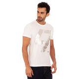 djbravo47 47 Tee Male White with Silver