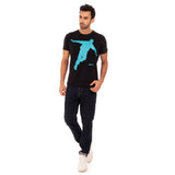 djbravo47 Celebration Tee Male Black with Blue