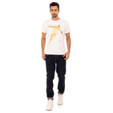 djbravo47 Celebration Tee Male White with Gold