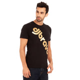 djbravo47 Logo Tee Male Black with Gold