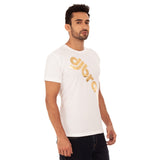 djbravo47 Logo Tee Male White with Gold