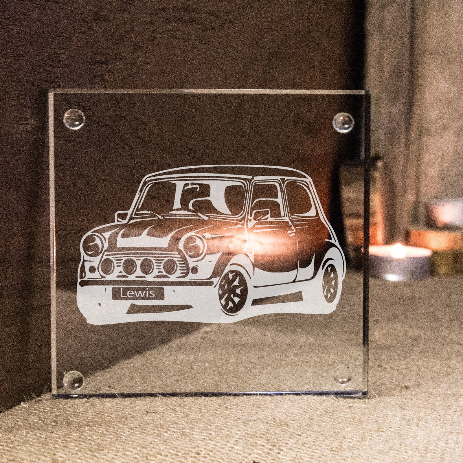 Personalised Classic Mini Coaster Ideal Car Enthusiast Birthday Gift Idea