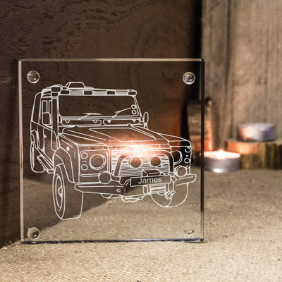 Personalised Land Rover Defender Style Coaster Ideal Car Enthusiast Gift Idea.