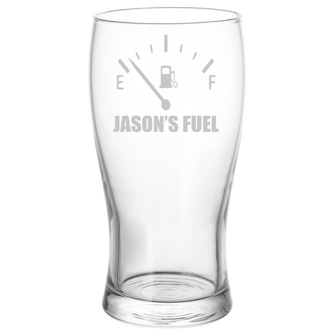 Personalised Engraved Fuel Gauge Pint Glass