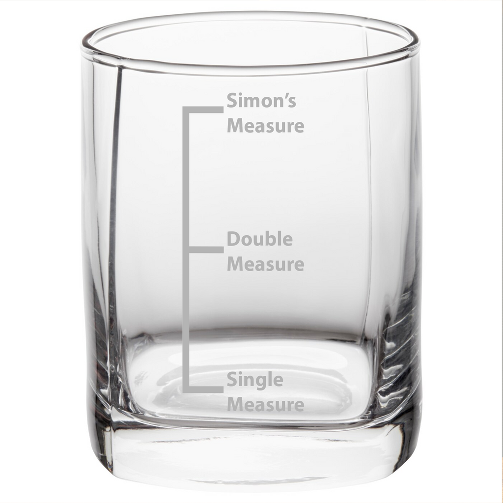 Personalised 3 Measures Whisky Glass Whiskey Tumbler Gift Idea For Him