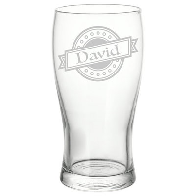 Personalised Name Logo Pint Glass Perfect Unique Birthday Gift