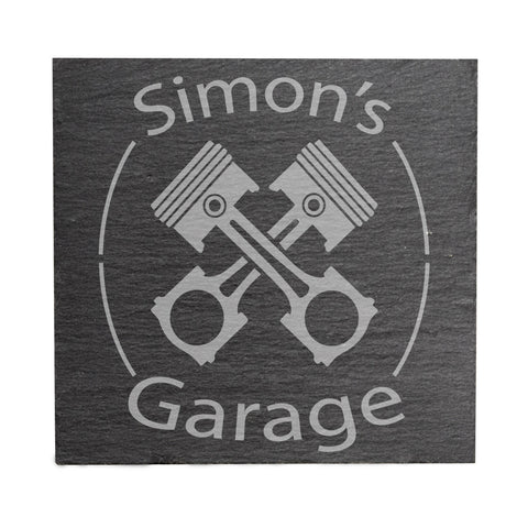 Personalised Garage Coaster Car Enthusiast Birthday Gift Idea