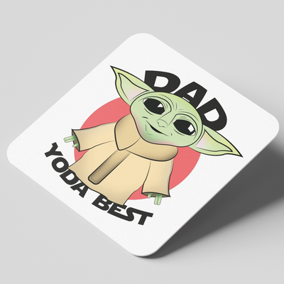 Dad Yoda Best Coaster