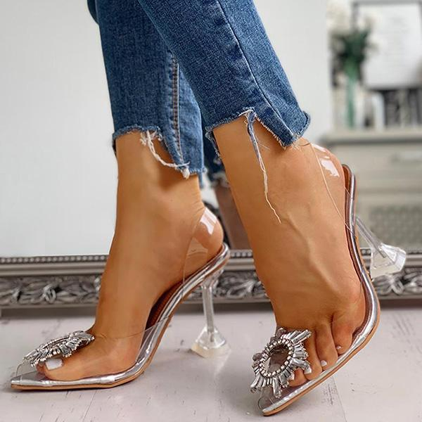 Popgoing Studded Pointed Toe