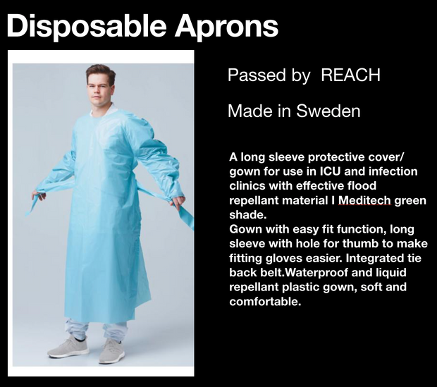 Disposable Gowns x240-960 £3.94-£3.74 per gown - Delivery Time 7-10 Days