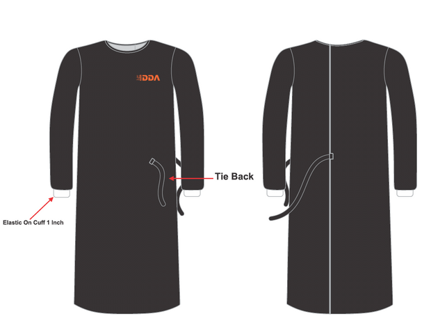 Custom Clinical Isolation Gown - ALL PROFITS TO CHARITY LBG - BOX OF 25X or  50X