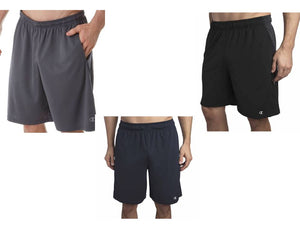 1550c5bfd17c3 Champion Men's Active Performance Double Dry Shorts Black Navy Gray