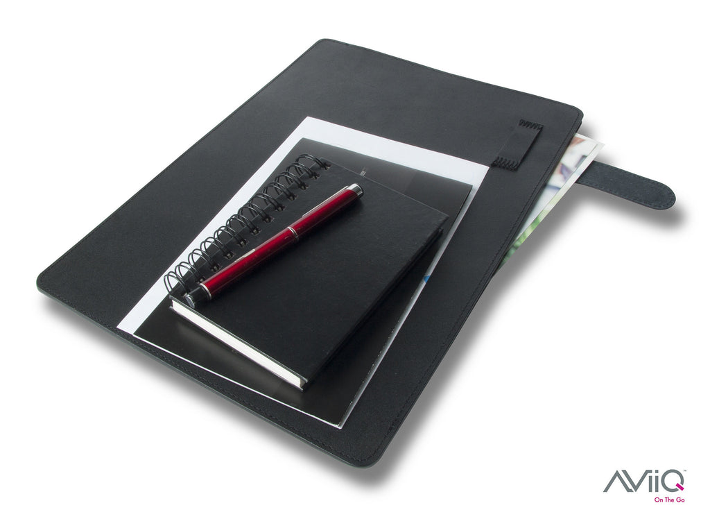 Sleek Leather Document Folio / Portable Laptop Stand Case