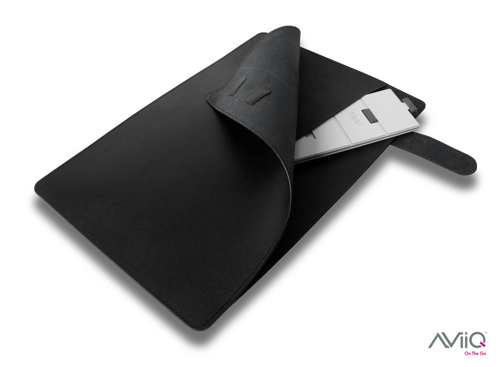 Portable Laptop Stand + Sleek Leather Folio/Case