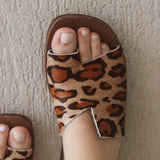 Belleyone Women Casual Leopard Printed Slippers