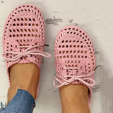 Belleyone Hollow Out Lace-Up Slipper For Women