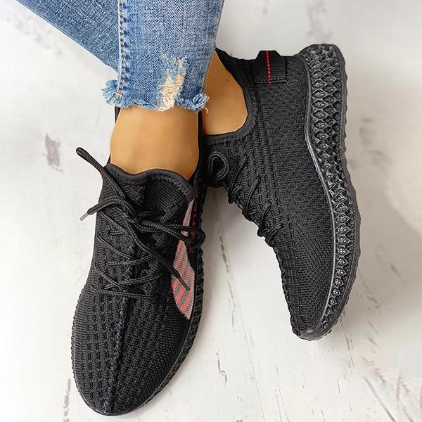 Belleyone Lace-Up Breathable Casual Sneakers